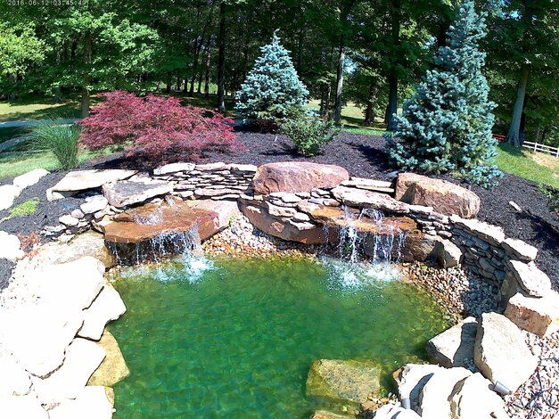 748 S Barn Lane - waterfall within the lake